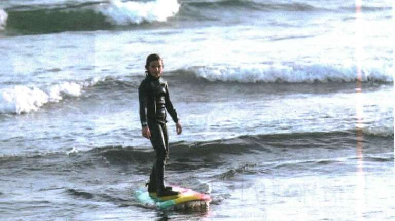 Kidsday reporter Katie Grande enjoys surfing in Montauk.
