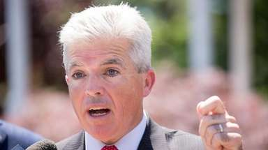 Suffolk County Executive Steve Bellone is seen on