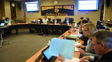 The Massapequa school board met on Thursday.