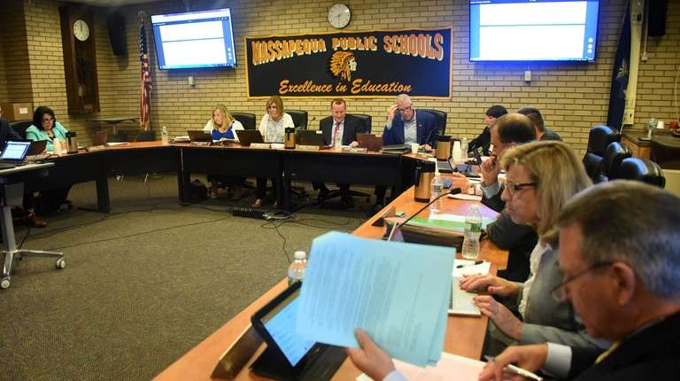 The Massapequa school board met on Thursday.