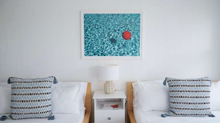 A room in the Haven Montauk, a modest