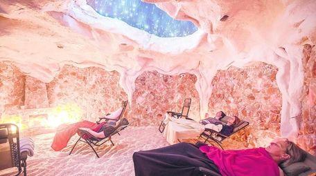 The Montauk Salt Cave, built from nine tons