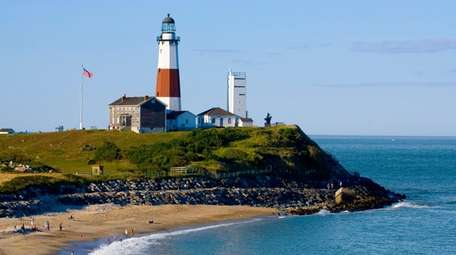 At the historic Montauk Lighthouse, climb to the