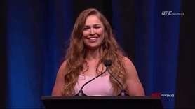 Ronda Rousey, the first female to compete in