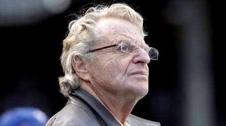 Talk-show host Jerry Springer at a 2015 baseball