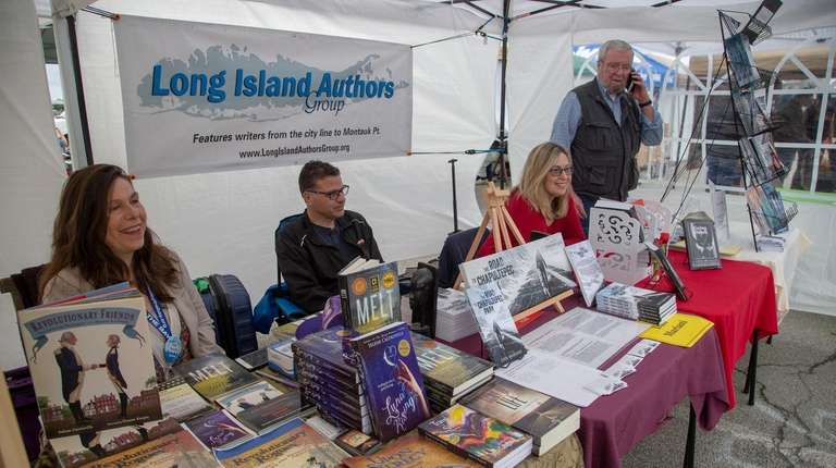 Long Island Authors, from left, Selene Castrovilla, Dan