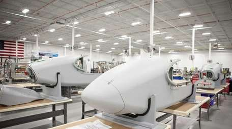 Aircraft parts are manufactured at CPI Aerostructures in
