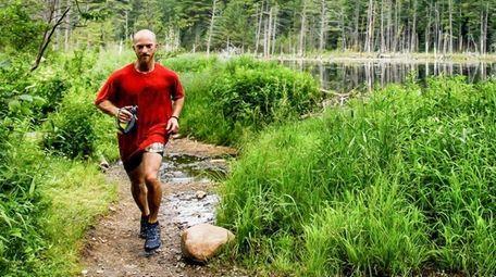 Extreme runner Nicholas Marshak, 30, runs in the