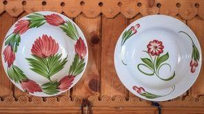 Mixed china plates found at a rummage sale
