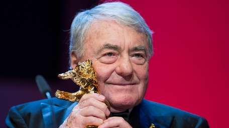 French film director Claude Lanzmann holds the Honorary