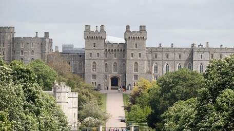 Windsor Castle in Windsor, England. is seen on