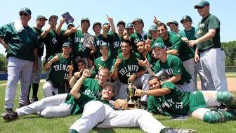 Holy Trinity celebrates with trophy. (May 31, 2010)