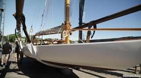 Elvira, a 38-foot-long P-class sloop created by famed