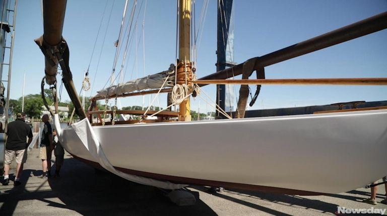 Elvira, a 38-foot-long P-class sloop created by famed