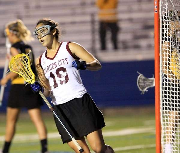 Garden City's Shannon Mangini gets first half goal.