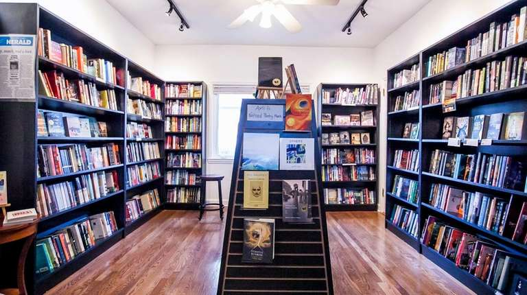 Books on display at Turn of the Corkscrew