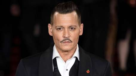 Johnny Depp attends the world premiere of the
