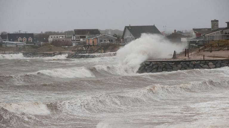 During superstorm Sandy in 2012, waves on Block