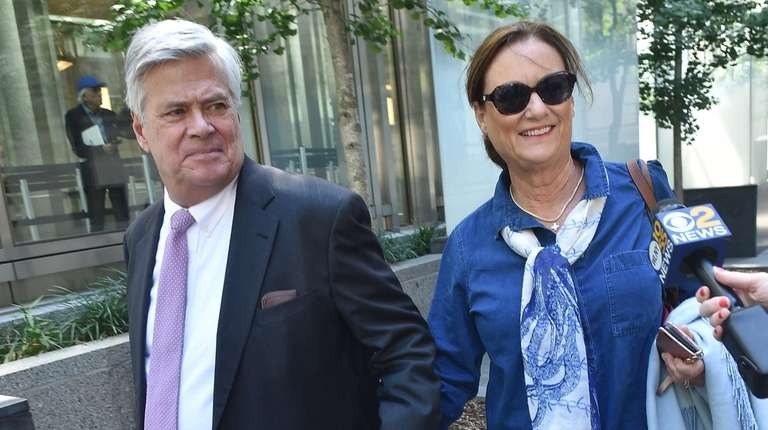 Former State Sen. Dean Skelos, and his wife,
