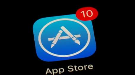Apple's app store icon is shown in Baltimore