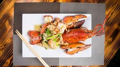 Lobster with ginger and scallions at Merrick Sea
