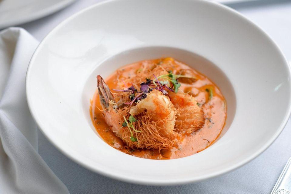 Crispy Kataifi Shrimp, wrapped with crispy shredded kataifi,