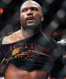 """Quinton """"Rampage"""" Jackson walks out of the ring"""