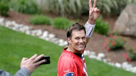 New England Patriots quarterback Tom Brady after minicamp