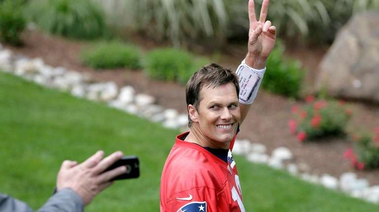 New England Patriots quarterback Tom Brady after minicamp