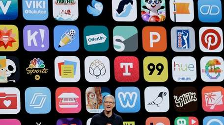 Apple CEO Tim Cook speaks at the Apple
