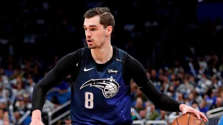 The Magic's Mario Hezonja moves the ball against