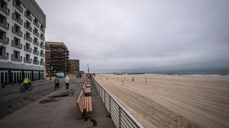The Long Beach boardwalk on June 23.