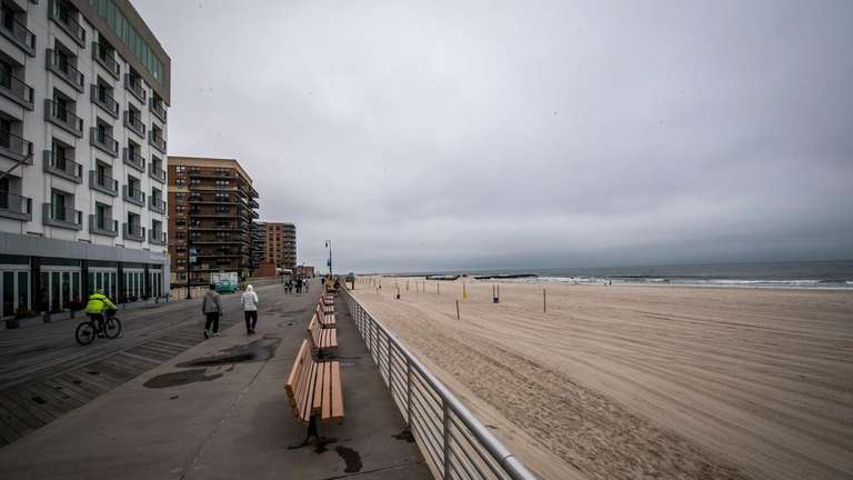 The Long Beach boardwalk on June 23.