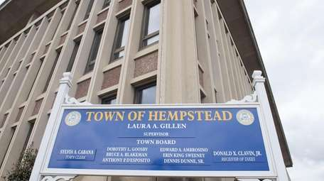 Hempstead Town Hall on March 12.