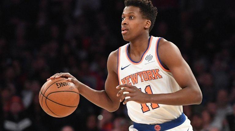 Knicks guard Frank Ntilikina, who grew up in