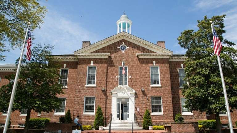Islip Town Hall is pictured on May 9.