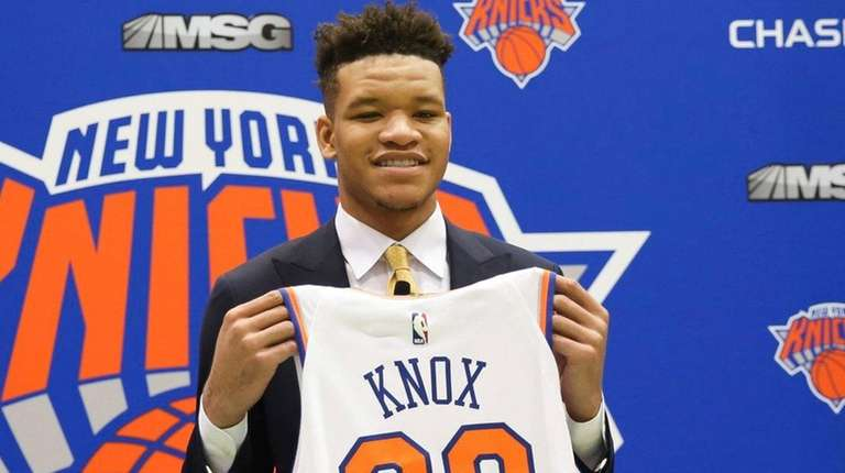 detailed look 044d9 a6d8a Kevin Knox shows Knicks his scoring ability in Summer League ...