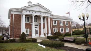 Smithtown Town Hall, seen here on Feb. 3,