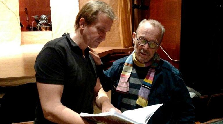 Choreographer Stas Kmiec and director Joel Grey work