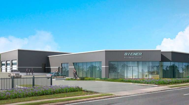 A rendering of the Biener Pre-Owned Center, a