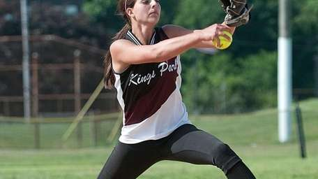 Kings Park pitcher #9 Lindsay Taylor during the