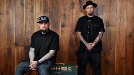 Twins Benji, left, and Joel Madden of the