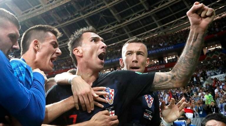 Croatia's Mario Mandzukic celebrates after scoring a goal