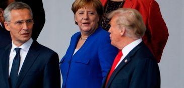 German Chancellor Angela Merkel and President Donald Trump