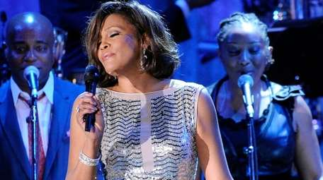 Whitney Houston performs at the pre-Grammy gala and