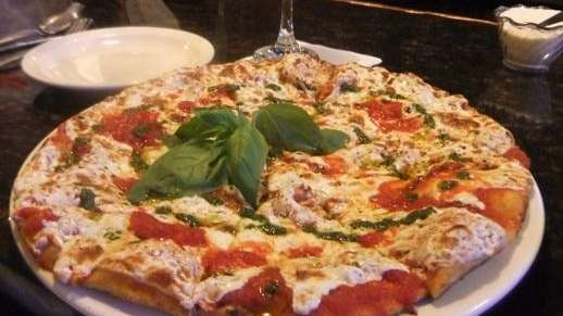 Grilled individual margherita pizza at Butera's in Smithtown