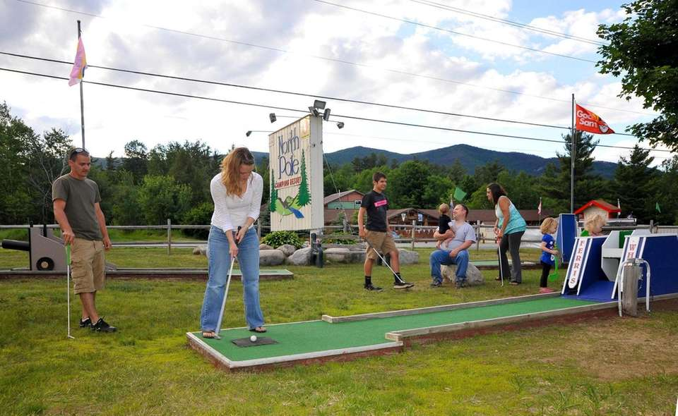 Miniature golf is among the activities available to