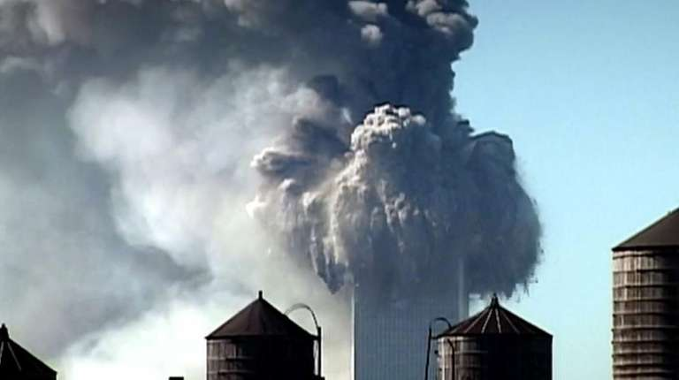 The Twin Towers on 9/11.