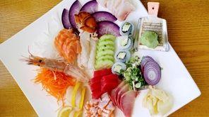 Chef Makoto Kobayashi's sashimi moriawase includes lobster, sweet