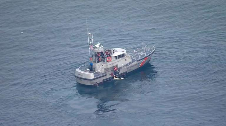 Members of the Coast Guard Rescue at the